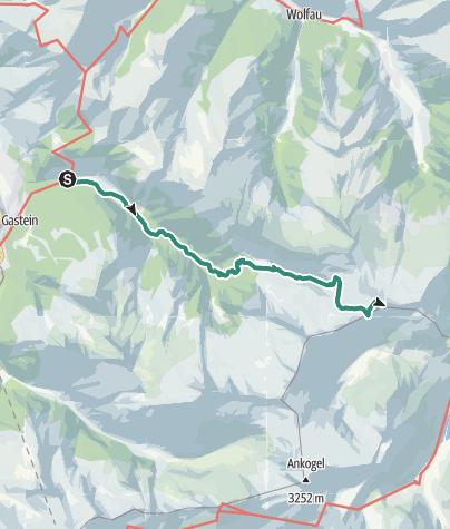 Karte / Keeskogel, Ali Lanti Biwak: Ankogelgruppe