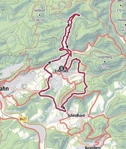 Karte / Hahnfels-Tour