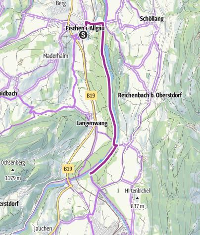 Karte / Radtour zum Illerursprung