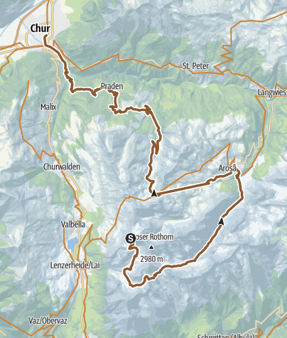 Karte / Lenzerheide - Arosa - Chur (Culmet & Welschtobel)