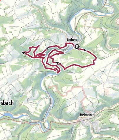 Karte / Traumschleife Nohener Nahe Schleife