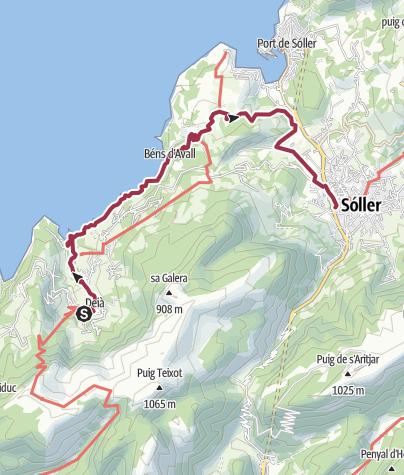Mapa / GLP_4 Deià-Soller par la côte