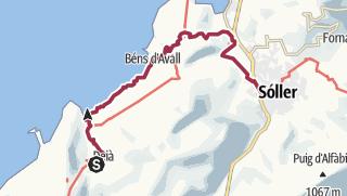 Kartta / GLP_4 Deià-Soller par la côte