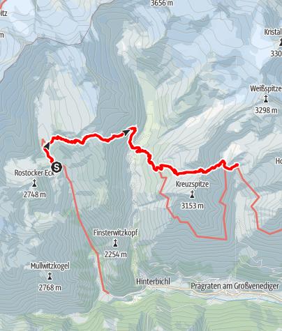 Karte / Venediger Höhenweg /  2. Etappe