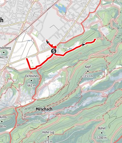 Karte / Hohenems Schwefel-Rundgang