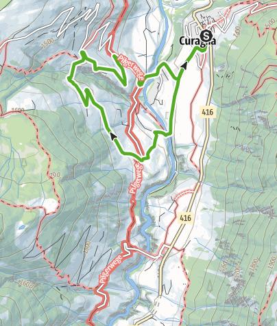 Karte / Zur Hängebrücke in Mutschnengia