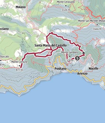 Map / Monte Pertuso - Monte Comune