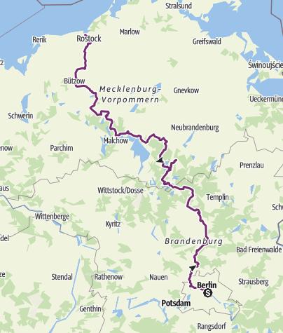Karte / Radweg Berlin-Kopenhagen