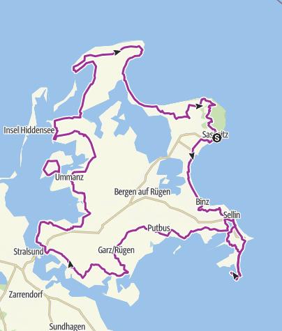 Map / Rügen-Rundweg (Rügen Cycling Path)
