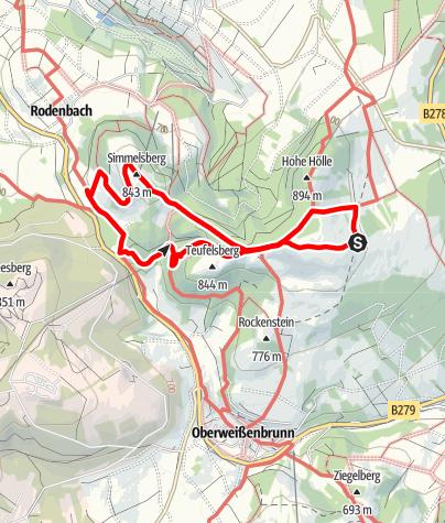 Karte / Himmeldunk und Teufelsberg