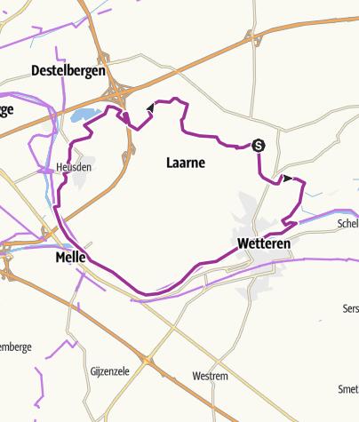 Map / Begonialus; Laarne; 27km