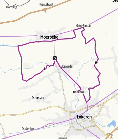 Map / Langs natuur en dorpscaféroute; Eksaarde; 32km