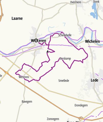 Kartta / De Rozenroute KP; Wetteren; 34km
