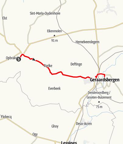 Map / Rijexamen Brakel - Geraardsbergen