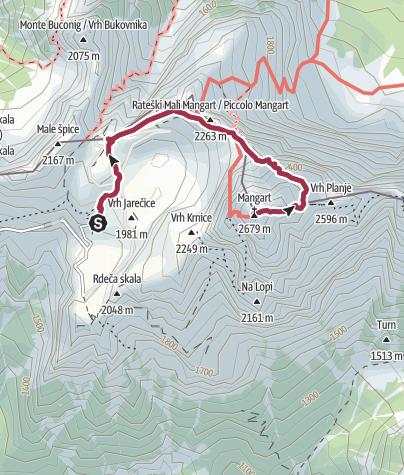 Map / Mangart