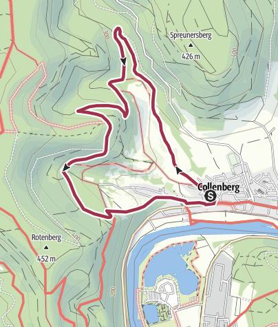 """Karte / """"Wald und Wiesen"""" - CR2"""