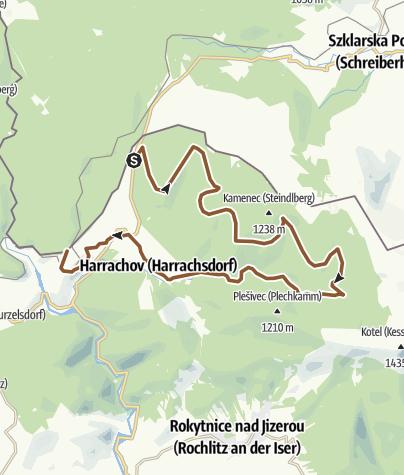 Map / Czeska czesc trasy rowerowej nr 2