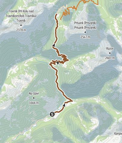 Map / Vrsić from Camp Triglav