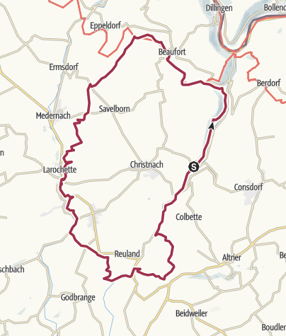 Mapa / Mullerthal route 3