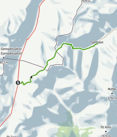 Karte / Heidelberger Hütte – Samnaun Dorf