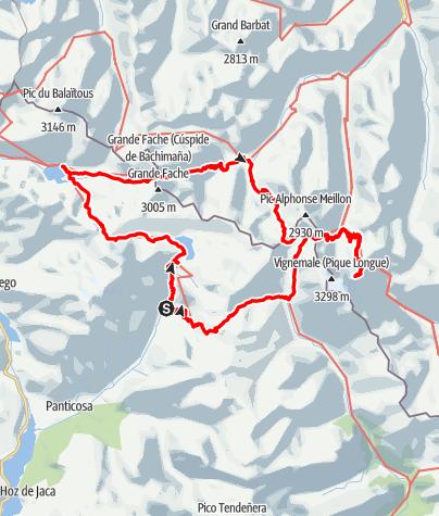 Karte / Panticosa Pyrenäen 10 Jahre Tour der Partnerstädt Gernika - Vicenza - Pforzheim