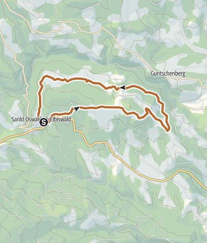 Karte / Koralpenlauf - Variante Nordic Walking