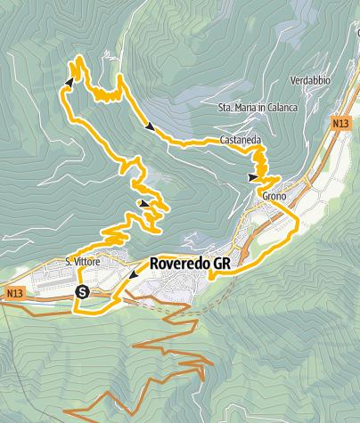 Cartina / 639 Giova - valle Mesolcina