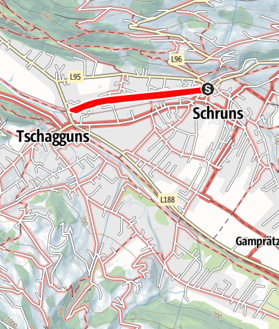 Karte / Barrierefrei - Spaziergang der Litz entlang