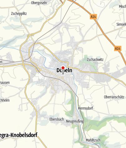 Map / Radwandern ohne Gepäck auf dem Mulderadweg