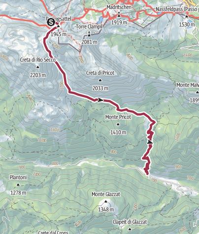Map / traversata carnica 2016 - tappa 6