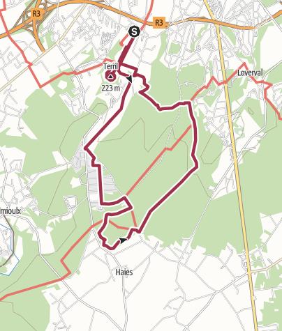 Map / Terril du bois du cazier et bois du prince