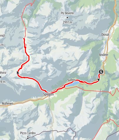 Map / Walserweg - Etappe 2: Rofflaschlucht - Safiental (Turrahus)