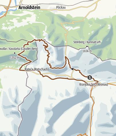 Karte / Dreiländereck + Tromeja Trail 🇮🇹