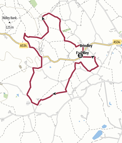 Map / Faddiley - Chorley Green - Brindley Loop