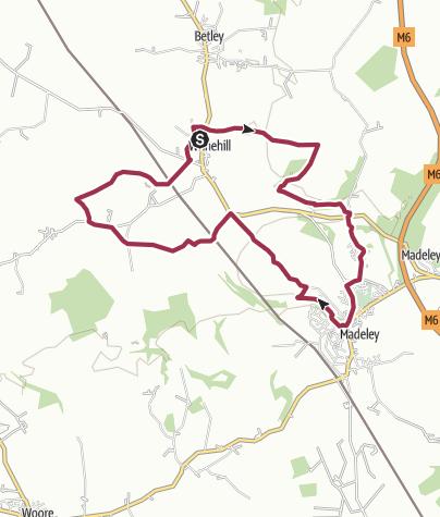 Map / Wrinehill - Bowsey Wood - Madeley - Checkley Loop