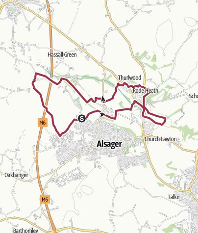Map / Alsager - Rode Heath - Day Green Loop