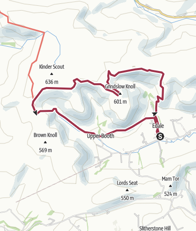Map / Edale, Nabs, Grindsbrook Knoll, Jacobs Ladder