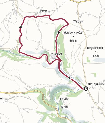 Map / 5 Dales Walk - Monsal Head