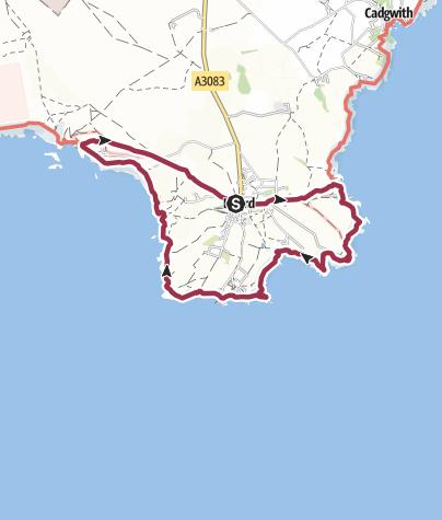 Map / Lizard to Kynance Circular
