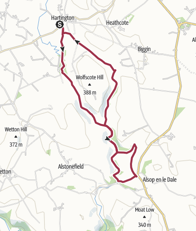 Map / Hartington, 3 Dales, Tissington Trail and Back