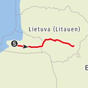 Карта / Калининград - Вильнюс