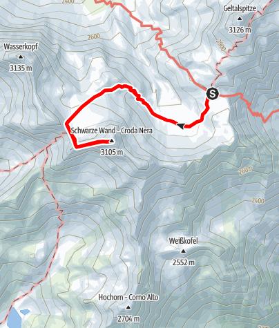 Karte / Rieserfernerhütte-Schwarze Wand -Rieserfernerhütte