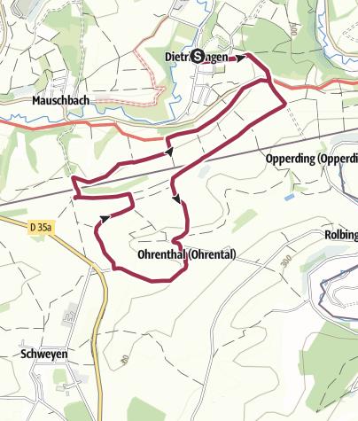 Karte / D/F Wanderung 27.09.2015