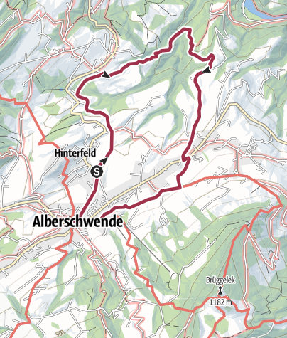 Karte / Alberschwende   Wasserfallrunde