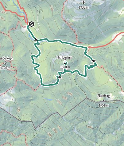 Karte / Bleckenau - Schlagstein