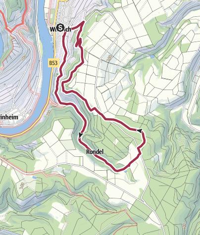 Karte / Herrgott´s Wanderweg durch Weinberge der Mosel