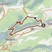 Mapa / Von Mötz zur Simmeringalm
