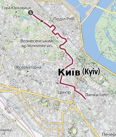 Map / Kyrylivska-Bankova