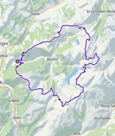Map / Ultra Tour Beaufortain 2