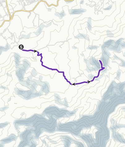Mapa / 21 Km El Toro Ensenada Trail